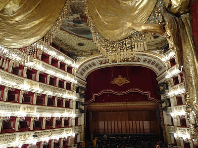 Teatro San Carlo, Naples: View from the royal box