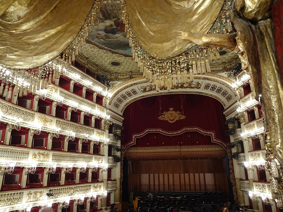 Teatro San Carlo - View of stage from Royal Box