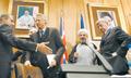 Tehran Declaration - 21 October 2003 - Joschka Fischer, Hassan Rouhani, Dominique de Villepin and Jack Straw (2).png