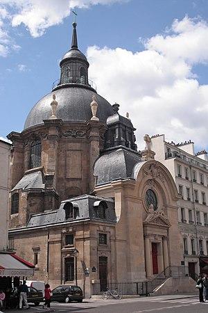 Temple du Marais - Image: Temple Sainte Marie rue Saint Antoine 4