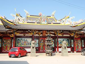 Religion in China - Temple of the Filial Blessing, a place for lineage religion, in Wenzhou, Zhejiang.