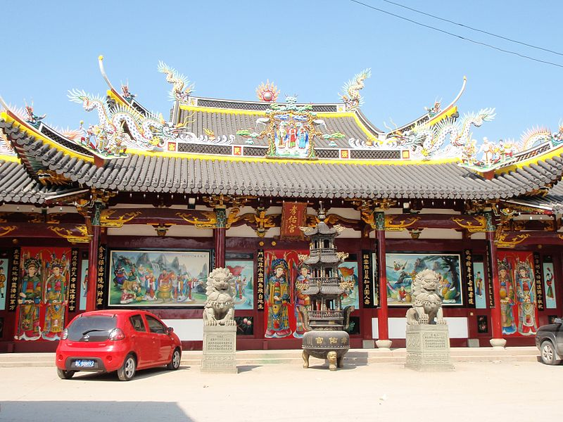 Temple of the Filial Blessing in Ouhai, Wenzhou, Zhejiang, China (1).jpg