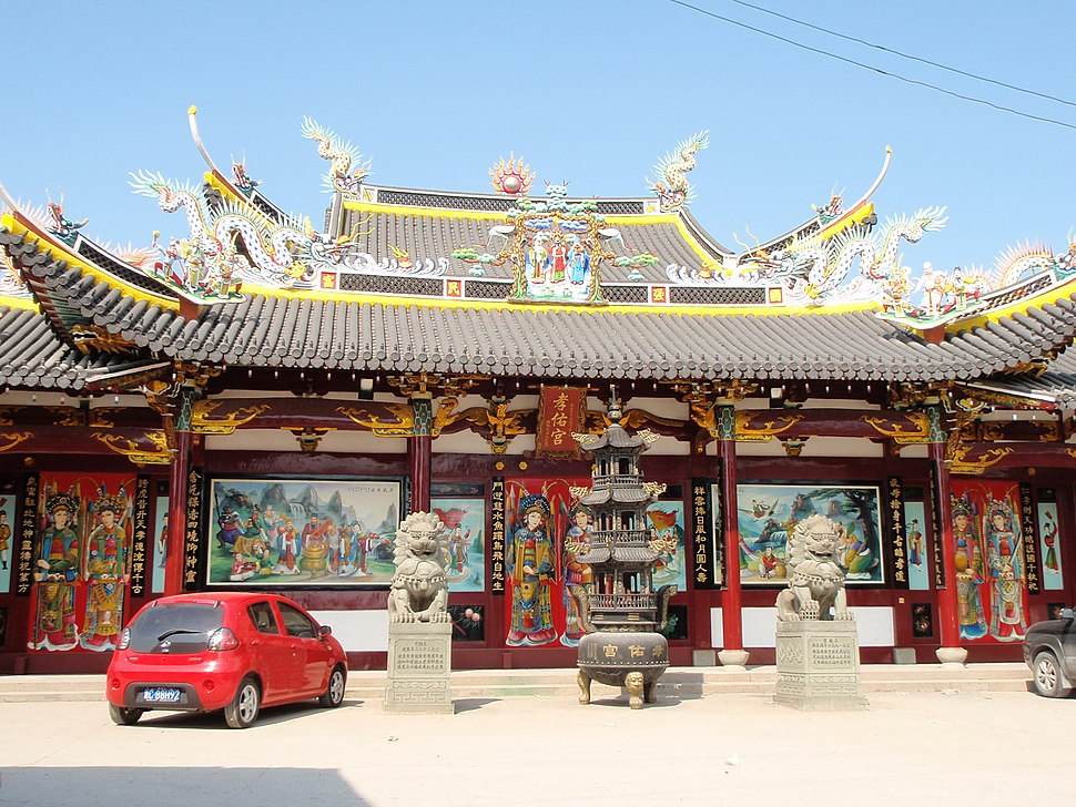 Temple of the Filial Blessing in Ouhai, Wenzhou, Zhejiang, China (1)