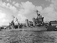 Temporary bow fitted to USS New Orleans