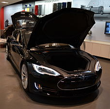 Tesla Model S with hood up.JPG