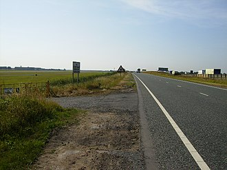 A168 road - Next to Dishforth Airfield, on the former Dere Street