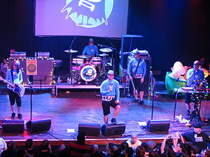 The Aquabats! Super Show! - The Aquabats appear as their fictional stage characters in Super Show!.