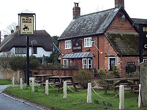 Durnford, Wiltshire - Image: The Black Horse, Great Durnford geograph.org.uk 336708