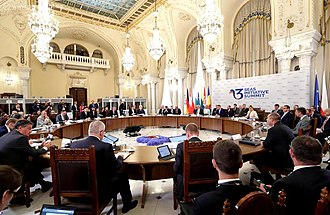 2018 Three Seas summit in Bucharest The Bulgarian Head of State is on a visit to Romania to take part in the Three Seas initiative summit 2018 10.jpg