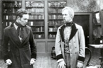 The Coward (1915 film) - Still of Charles Ray as Frank Winslow and Frank Keenan as Col. Jefferson Beverly Winslow.