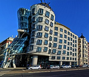 Dancing House - Side view of the Dancing House