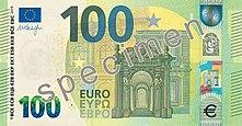 100 euros, front