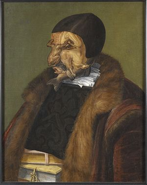 The Jurist (painting) - Image: The Lawyer, possibly Ulrich Zasius, 1461 1536, humanist, jurist (Giuseppe Arcimboldo) Nationalmuseum 15897