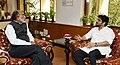 The Minister of State for Heavy Industries & Public Enterprises, Shri Babul Supriyo meeting the Minister of State for Tourism (IC), Shri Alphons Kannanthanam, in New Delhi on June 06, 2018 (1).JPG