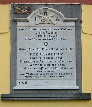 The O'Rahilly - Plaque in Ballylongford, County Kerry.