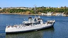 La Patrulla 301, Almirante Didiez Burgos de la Armada Dominicana entregando suministros para desastres en el puerto de La Habana después del huracán Irma.
