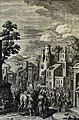 The Phillip Medhurst Picture Torah 366. The Israelites leave Egypt. Exodus cap 12 v 51. Heuman.jpg