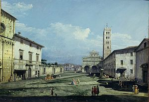 Luigi Boccherini - The Piazza San Martino, Lucca in 1742 by Bernardo Bellotto