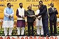 The President, Shri Pranab Mukherjee presenting the National Award for Teachers-2015 to Shri Rajesh Ojha (Rajasthan), on the occasion of the 'Teachers Day', in New Delhi.jpg
