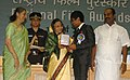 """The President, Smt. Pratibha Devisingh Patil presenting the Award for Best Child Actor to Master Shams Patel for Hindi film """"Thanks Maa"""", at the 56th National Film Awards function, in New Delhi on March 19, 2010.jpg"""
