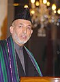 The President of Afghanistan, Mr. Hamid Karzai delivering speech after receiving the Indira Gandhi Prize for Peace, Disarmament and Development-2005, in New Delhi on November 19, 2006.jpg