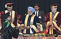The Prime Minister, Dr. Manmohan Singh giving away the Degree to the Students, at the 3rd Convocation of Sher-e-Kashmir University of Agricultural Sciences and Technology, in Jammu on March 04, 2011 (1).jpg