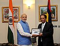 The Prime Minister, Shri Narendra Modi and the Prime Minister of Mauritius, Sir Anerood Jugnauth at the One to One meeting, in Mauritius on March 11, 2015 (1).jpg
