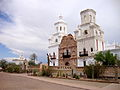 The San Xavier de Bac Mission south of Tucson, AZ.JPG