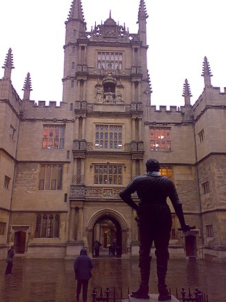 Bodleian Library - The Tower of the Five Orders, as viewed from the entrance to the Divinity School