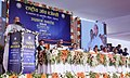 The Union Home Minister, Shri Rajnath Singh addressing at the inauguration of the office and residential premises of National Investigation Agency (NIA), at Lucknow, Uttar Pradesh.jpg