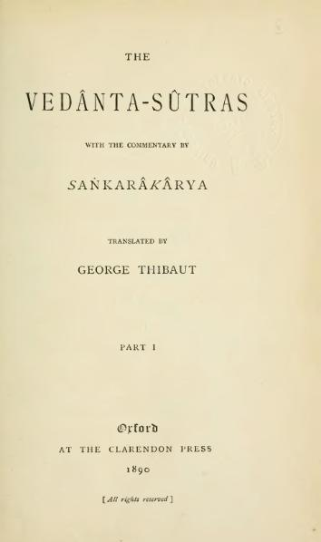 File:The Vedanta-Sutras, transl. George Thibaut, 1890.djvu