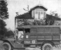 The Woman Citizen 1918 June - Civitas and Sorosis, two large women'sclubs of New York City, presented twin ambulances of this type to the Women's Oversea Hospitals, U.S.A. This is one of them in active service at Labouheyre.png
