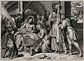 The adoration of the shepherds. Engraving by C.J. Visscher a Wellcome V0034619.jpg