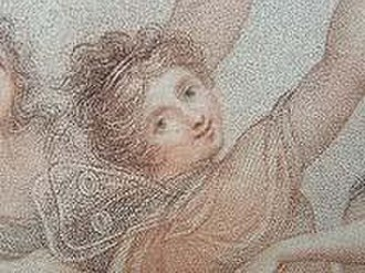 The Hours (engraving) - Detail showing the gossamer wings on the nymph.