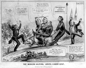 "Barnburners and Hunkers - ""The Modern Gilpins"" - rivalry between the Hunkers and anti-slavery Democrats"