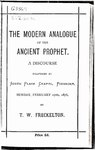 The modern analogue of the ancient prophet.pdf