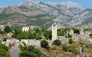 Stari Bar Town in Bar Municipality, Montenegro