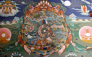<i>Saṃsāra</i> cycle of death and rebirth in Buddhism and Hinduism