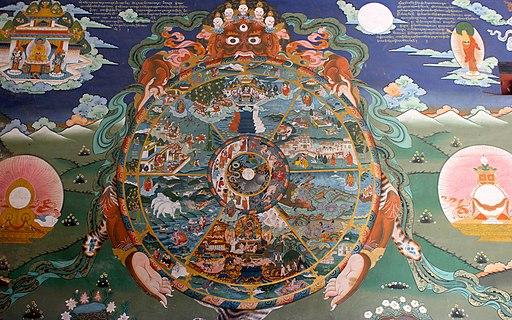The wheel of life, Buddhism Bhavachakra