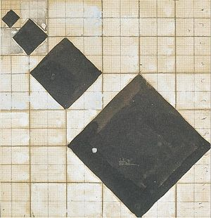 Abstraction-Création - Theo van Doesburg, c.1929-30, Study for Arithmetic Composition, pencil, Indian ink and gouache on graph paper, 12 x 12 cm, Kröller-Müller Museum