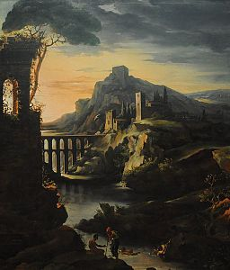 Theodore Gericault- Evening landscape with an aqueduct, 1818.jpg