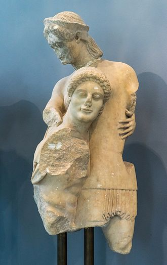 Archaeological Museum of Eretria - Theseus and Antiope, ca.510 BCE.