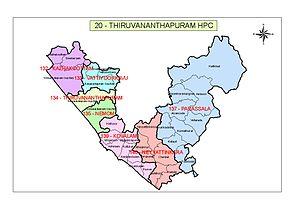 Thiruvananthapuram (Lok Sabha constituency) - Map of Thiruvananthapuram Parliament Constituency