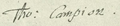 Thomas Campion Signature.png