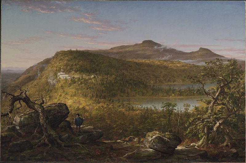 File:Thomas Cole - A View of the Two Lakes and Mountain House, Catskill Mountains, Morning (1844) - Google Art Project.jpg