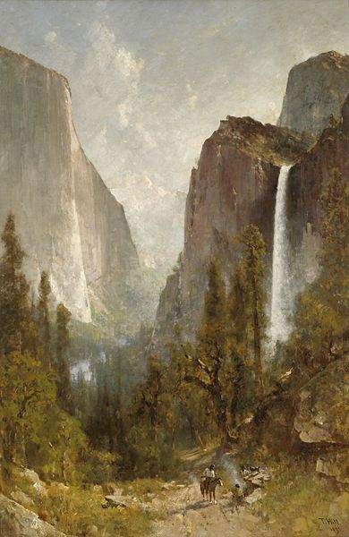 File:Thomas Hill - Bridal Veil Falls, Yosemite Valley.jpg