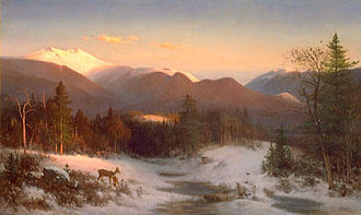 Thomas Hill (painter) - Mount Lafayette in Winter (1870)