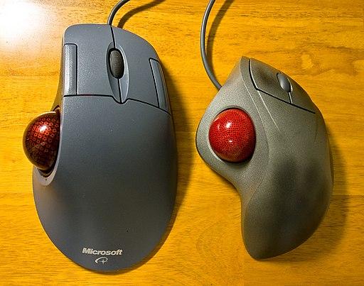 Thumb type trackballs