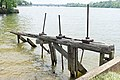 Tidewater lock waste weir remains (Rock Creek) at end of Chesapeake and Ohio Canal.jpg