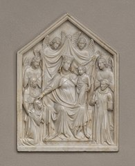 Madonna and Child with Queen Sancia, Saints, and Angels